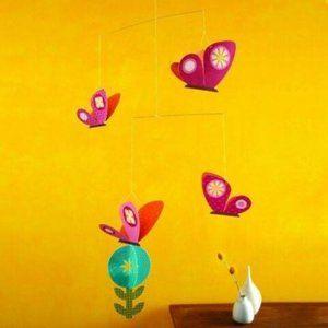 Nursery Mobile - Petit Collage Spring Butterflies